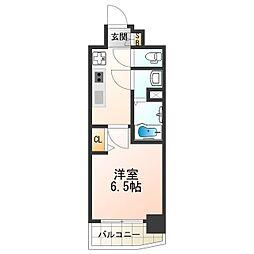 近鉄南大阪線 河堀口駅 徒歩2分の賃貸マンション 12階1Kの間取り