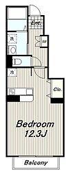 京王相模原線 稲城駅 徒歩3分の賃貸アパート 1階1Kの間取り