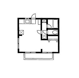 サンボナールA[1階]の間取り