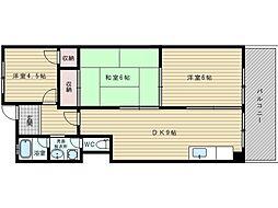 旭第2マンション[2階]の間取り