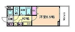 プレサンス梅田インテルノ[3階]の間取り