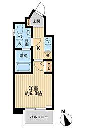 東京都千代田区内神田2丁目の賃貸マンションの間取り