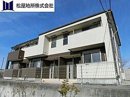 愛知県豊橋市若松町字中山の賃貸アパートの外観