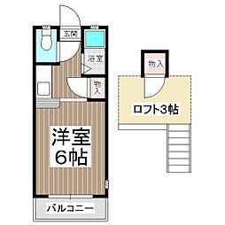 ウイング美和台[2階]の間取り