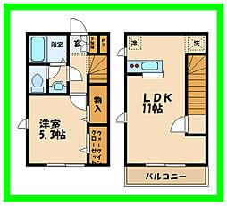 Casa  Seijo715 2階1LDKの間取り
