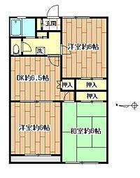 メゾンカキナカ[1階]の間取り