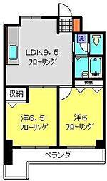 神奈川県横浜市港南区芹が谷4丁目の賃貸マンションの間取り