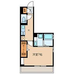 JR京葉線 新浦安駅 徒歩19分の賃貸アパート 1階1Kの間取り