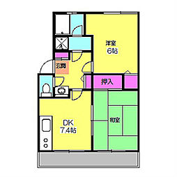 グリーンハーモニー日吉B[2階]の間取り