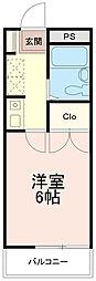 ソレイユ稲田堤[2階]の間取り
