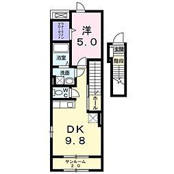 グロースフェルトA[2階]の間取り
