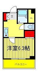 G・MウエストハイツA・B[1階]の間取り
