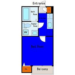 JR京浜東北・根岸線 大井町駅 徒歩13分の賃貸アパート 1階1Kの間取り