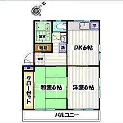 東京都西東京市向台町5丁目の賃貸マンションの間取り