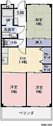 愛知県瀬戸市東赤重町1丁目の賃貸マンションの間取り