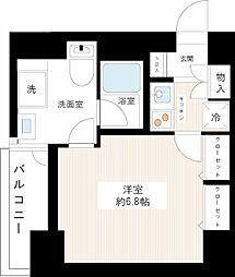 パレステュディオ日本橋東壱番館[8階]の間取り