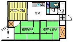 第1御陵ビル[308号室]の間取り