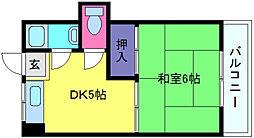 篠原中西マンション[2階]の間取り