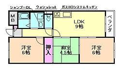 スクエアガーデン[2階]の間取り
