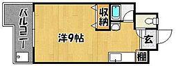 クリスタル西新[205号室]の間取り