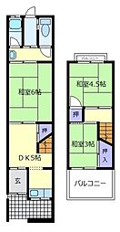 [テラスハウス] 大阪府松原市高見の里6丁目 の賃貸【/】の間取り
