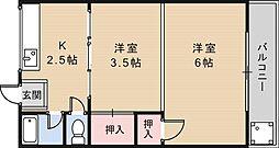 Rアッシュ矢田[1階]の間取り