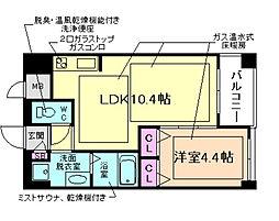 ノルデンハイム梅田東[10階]の間取り