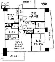 JR京浜東北・根岸線 大宮駅 徒歩7分の賃貸マンション 8階2SLDKの間取り