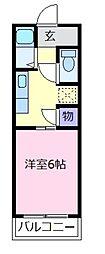大阪府松原市天美東6丁目の賃貸アパートの間取り