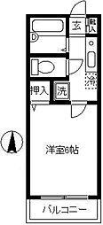 ドミール武蔵小杉[1階]の間取り