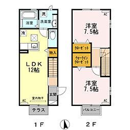 [テラスハウス] 愛知県岡崎市竜美南4丁目 の賃貸【/】の間取り