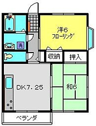 神奈川県横浜市港南区芹が谷3丁目の賃貸アパートの間取り