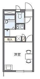 愛知県岡崎市柿田町の賃貸アパートの間取り