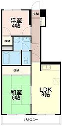 ふじみマンション[2階]の間取り