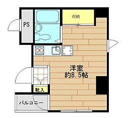 K2[4階]の間取り