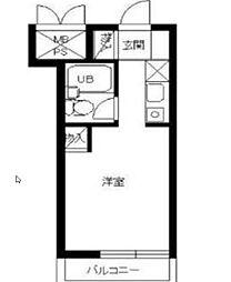 スカイコート戸塚[1階]の間取り