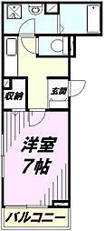 埼玉県狭山市新狭山2丁目の賃貸アパートの間取り