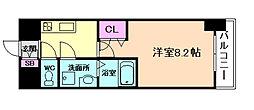 阪神本線 姫島駅 徒歩6分の賃貸マンション 4階1Kの間取り