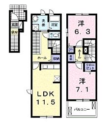 ベリーハウス[2階]の間取り