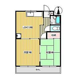 ヴァームハイツ[3階]の間取り