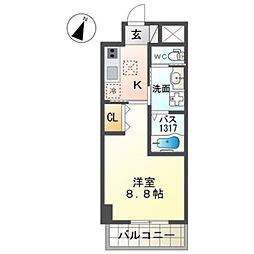 泉北高速鉄道 和泉中央駅 徒歩7分の賃貸マンション 1階1Kの間取り