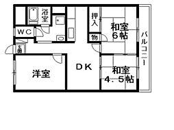 レジデンス栗東[2階]の間取り