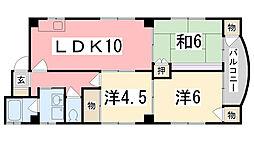 垣根マンション[3階]の間取り