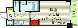 S-RESIDENCE都島(エスレジデンス都島) 11階1Kの間取り