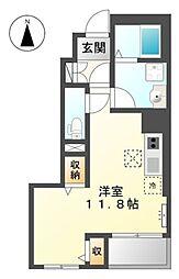 東京都国立市谷保の賃貸アパートの間取り