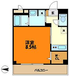 JR南武線 武蔵新城駅 徒歩11分の賃貸アパート 3階1Kの間取り