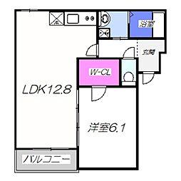 仮称・フジパレス堺市西区鳳南町 1階1LDKの間取り