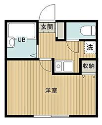 東京メトロ有楽町線 地下鉄成増駅 徒歩3分の賃貸マンション 1階1Kの間取り