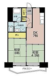 九番団地8号棟[3階]の間取り