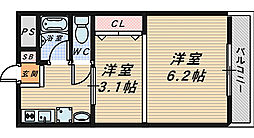 レジデンスプアクラ[3階]の間取り